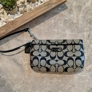Coach Wristlet - black and grey